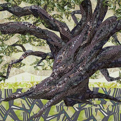 Tapestry - Textile - Cathedral Oak by Linda Beach
