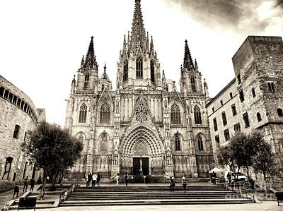 Photograph - Cathedral Of Barcelona by John Rizzuto