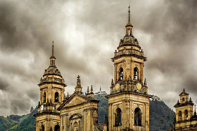 Photograph - Cathedral Of Bogota by Maria Coulson