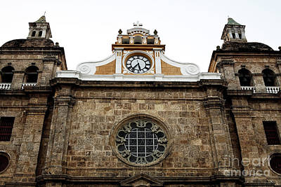 Cathedral Of Cartagena Art Print by John Rizzuto