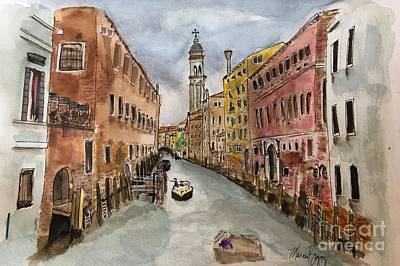 Painting -  Cathedral Of San Giorgio Dei  Greci by Marcia Breznay