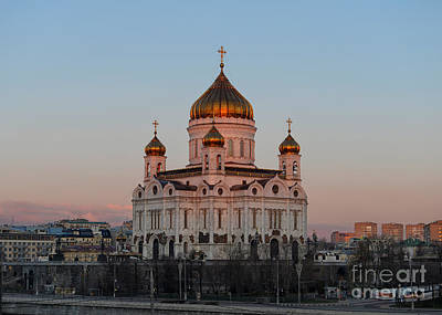 Cathedral Of Christ The Saviour In Moscow, Russia Art Print by Ivan Batinic
