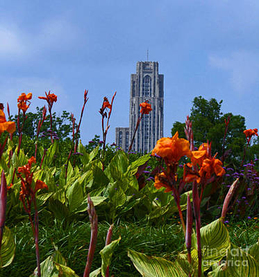 Cathedral Of Learning Art Print by Joan Powell