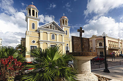 Cathedral Of Mayaguez Art Print by George Oze
