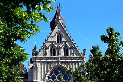Belguim Wall Art - Photograph - Cathedral Of Our Lady. Antwerp. View From The Groene Plaats by Rusalka Koroleva