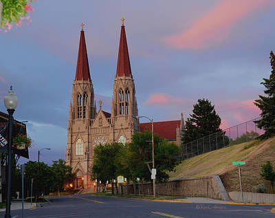 Photograph - Cathedral Of Saint Helena At Sunset by Kae Cheatham