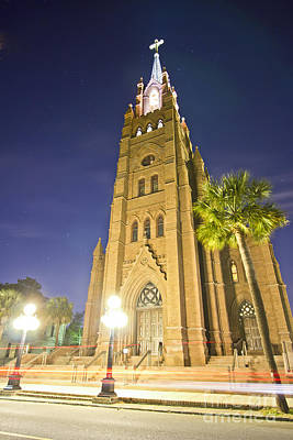 Cathedral Of Saint John The Baptist Charleston Sc At Night Original
