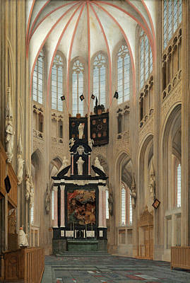 Painting - Cathedral Of Saint John's At Hertogenbosch by Pieter Jansz Saenredam
