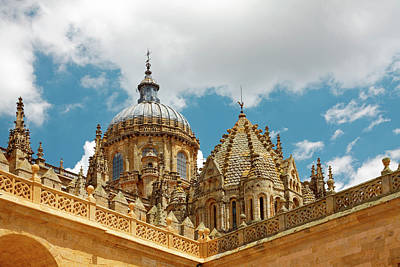 Photograph - Cathedral Of Salamanca Roof Details by Sally Weigand