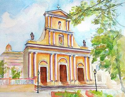 Painting - Cathedral Of San Juan Bautista  by Carlin Blahnik CarlinArtWatercolor
