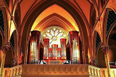 Photograph - Cathedral Of St. John The Baptist Church Organ by Carol Montoya