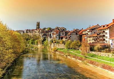 Photograph - Cathedral Of St. Nicholas And Sarine River In Fribourg, Switzerland by Elenarts - Elena Duvernay photo