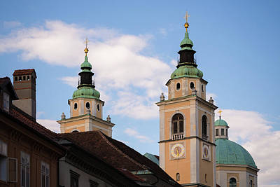 Church Photograph - Cathedral Of St Nicholas In Ljubljana by Blaz Gvajc