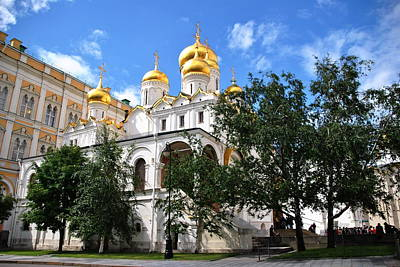 Photograph - Annunciation Cathedral - Kremlin by Jacqueline M Lewis
