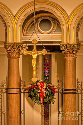 Christain Cross Photograph - Cathedral Of The Sacred Heart Crucifix by Jemmy Archer