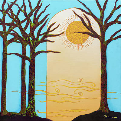 Wall Art - Painting - Cathedral Of The Trees by Shannan Folino