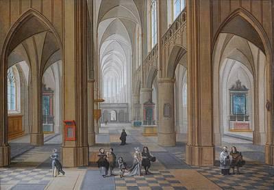 Cathedral Art Print by Pieter Neeffs