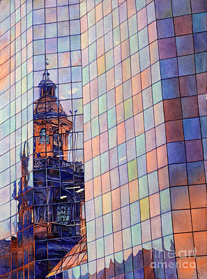 Metro Art Painting - Cathedral Reflection Santiago by Ryan Fox