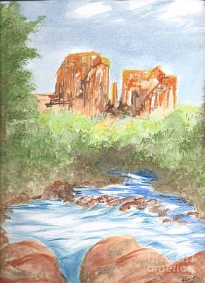 Painting - Cathedral Rock 2,  Sedona, Az. by Reed Novotny