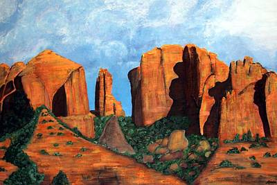 Painting - Cathedral Rock by Afrodita Ellerman