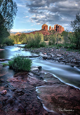Dan Beauvais Royalty-Free and Rights-Managed Images - Cathedral Rock and Oak Creek 3381 by Dan Beauvais