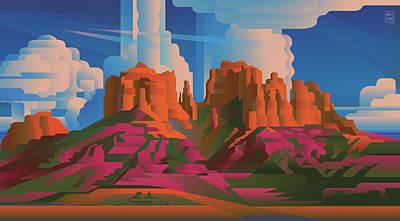 Cathedral Rock Arizona Art Print