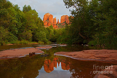 Cathedral Rock At Sunset  Art Print by Ruth Jolly
