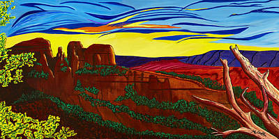 Cathedral Rock Art Print by Clark Sheppard