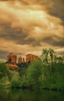 Photograph - Cathedral Rock by Don Schwartz