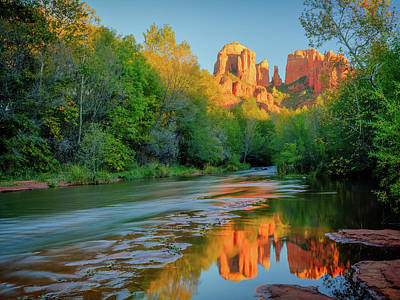 Photograph - Cathedral Rock Evening by David Cote