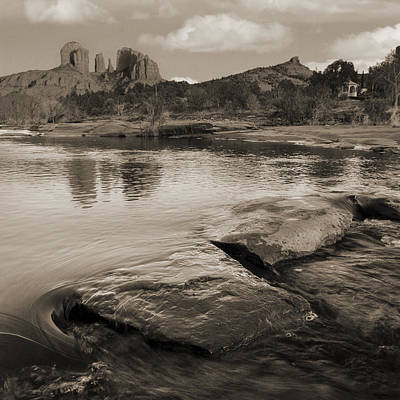 Photograph - Cathedral Rock Flow by Bob Coates