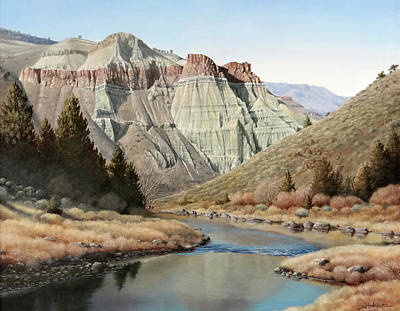 Cathedral Rock Painting - Cathedral Rock John Day River by Mike Stinnett