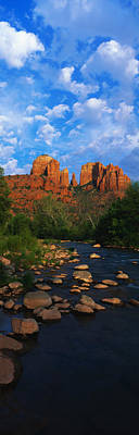 Cathedral Rock Oak Creek Red Rock Art Print by Panoramic Images