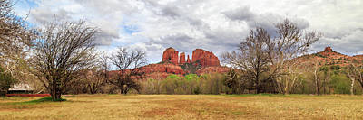 Cathedral Rock Panorama Art Print by James Eddy