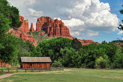 Photograph - Cathedral Rock - Red Rock Crossing - Sedona Arizona by Gregory Ballos
