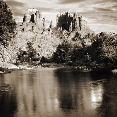 Photograph - Cathedral Rock Reflection by Bob Coates