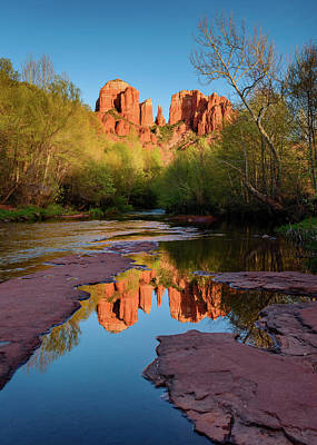 Cathedral Rock Reflection Vertical Art Print