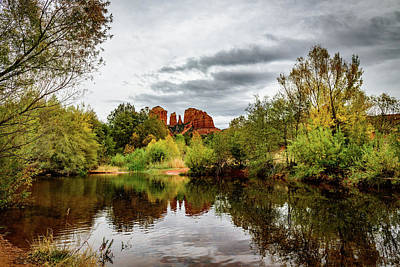 Cathedral Rock Reflections Art Print