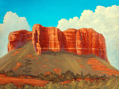 Cathedral Rock Painting - Cathedral Rock, Sedona, Arizona by James Zeger