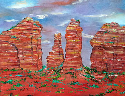 Painting - Cathedral Rock Sedona Arizona by Judith Rhue