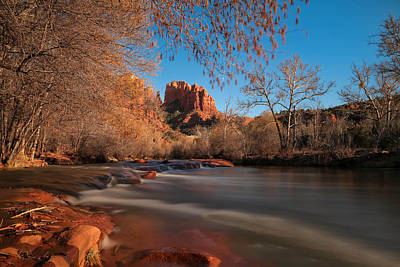 Stream Photograph - Cathedral Rock Sedona Arizona by Larry Marshall