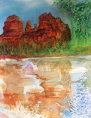 Painting - Cathedral Rock Sedona Az by Ellen Levinson