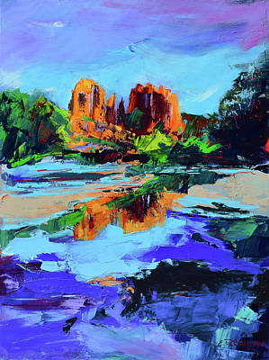 Mountain Royalty-Free and Rights-Managed Images - Cathedral Rock - Sedona by Elise Palmigiani