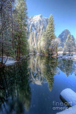 Photograph - Cathedral Rocks From El Capitan Bridge Winter Yosemite National Park by Wayne Moran