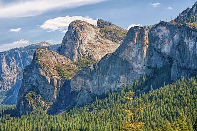 Photograph - Cathedral Rocks Yosemite by John M Bailey