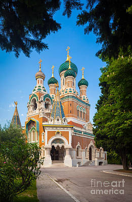 Cathedral Russe Art Print by Inge Johnsson