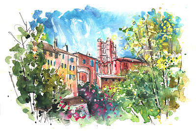 Painting - Cathedral Sainte Cecile In Albi 01 by Miki De Goodaboom