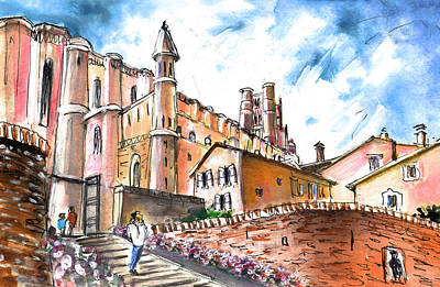 Architecture Drawing - Cathedral Sainte Cecile In Albi 02 by Miki De Goodaboom