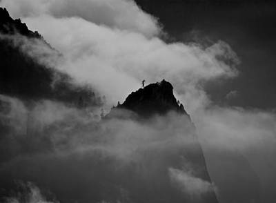 Cathedral Rock Photograph - Cathedral Spire In Mist by Chris Brewington Photography LLC