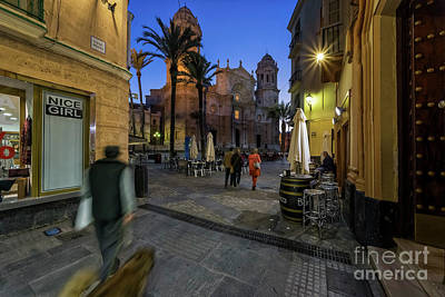 Photograph - Cathedral Square From Calle Pelota Cadiz Spain by Pablo Avanzini